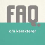 FAQ om karakterer